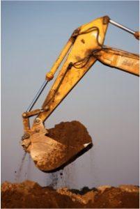 Dirt Waste Loaded in to Skip Bin