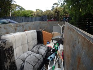 Skip Bins Adelaide half full of rubbish